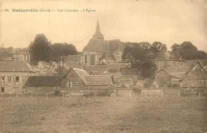 """CPA FRANCE 27 """"Mainneville, vue générale, l'Eglise"""""""