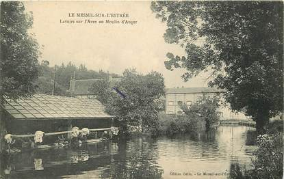 """CPA FRANCE 27 """"Le Mesnil sur L'Estrée, lavoirs a moulin d'Auger"""""""