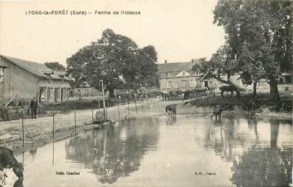 """CPA FRANCE 27 """"Lyons la Forêt, Ferme de Hideuse"""""""