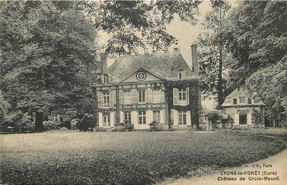 """CPA FRANCE 27 """"Lyons la Forêt, chateau de Croix Mesnil"""""""