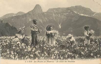 """CPA SUISSE  """"Les avants sur Montreux, la saison des Narcisses"""""""