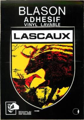 "/ CPSM FRANCE 24 ""Lascaux"" / BLASON ADHESIF"