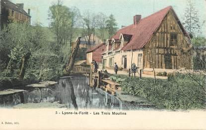 """CPA FRANCE 27 """"Lyons la Forêt, les trois moulins"""""""