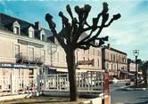 """24 Dordogne / CPSM FRANCE 24 """"Thiviers, place de la gare, les hôtels"""""""