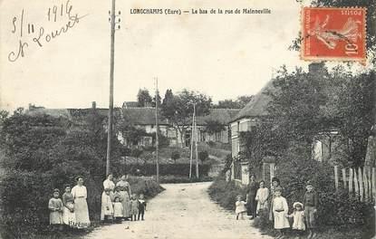 """CPA FRANCE 27 """"Longchamps, rue de Mainneville"""""""