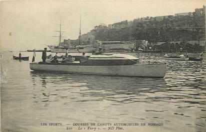 """CPA MONACO """"Courses de Canots automobiles"""""""