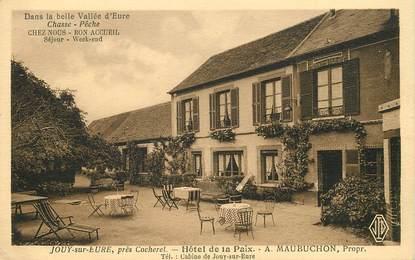 """CPA FRANCE 27 """"Jouy sur Eure, hotel de la Paix"""""""