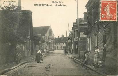 "CPA FRANCE 27 ""Harcourt, grande rue"""