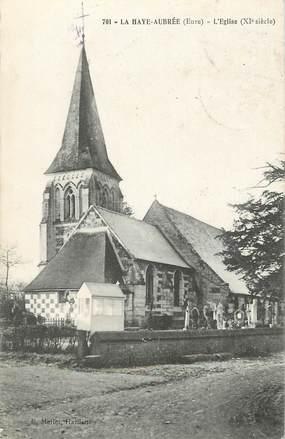 """CPA FRANCE 27 """"La Haye Aubrée, Eglise"""""""
