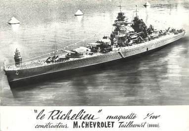 "/ CPSM FRANCE 25 ""Taillecourt, le Richelieu"" / MAQUETTE / DOS NON CP"