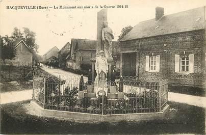"""CPA FRANCE 27 """"Hacqueville, monument aux morts"""""""