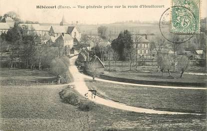 """CPA FRANCE 27 """"Hébécourt, vue générale prise de la route d'Heudicourt"""""""