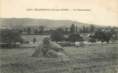 "CPA FRANCE 27 ""Heudreville sur Eure, panorama"""