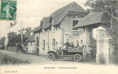 "CPA FRANCE 27 ""Herqueville, ferme normande"""