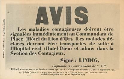 """/ CPA FRANCE 51 """"Ville de Reims, avis"""""""