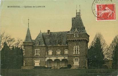 """CPA FRANCE 38 """"Morestel, Chateau de Lancin"""" / CARTE TOILÉE"""