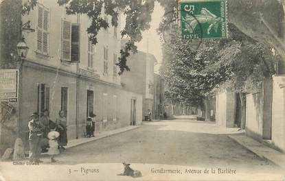 """/ CPA FRANCE 83 """"Pignans, gendarmerie, av de la Barlière"""""""