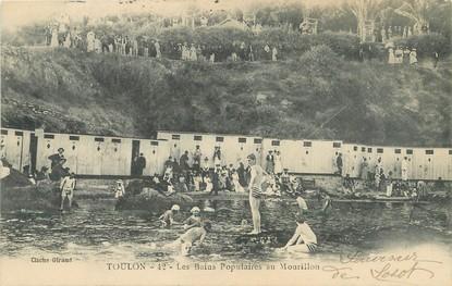 """/ CPA FRANCE 83 """"Toulon, les bains populaires au Mourillon"""""""