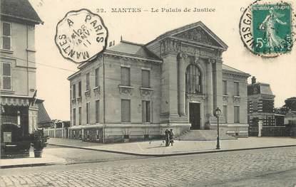 """/ CPA FRANCE 78 """"Mantes, le palais de justice"""""""