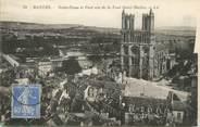 """78 Yveline / CPA FRANCE 78 """"Mantes, Notre Dame et pont vus de la tour Saint Maclou"""""""