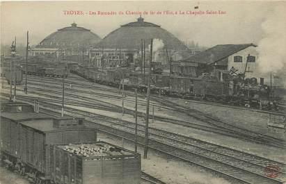 """/ CPA FRANCE 10 """"Troyes, les rotondes du chemin de fer de l'est"""" / GARE"""