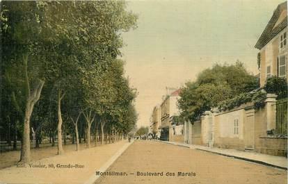 """CPA FRANCE 26 """"Montélimar, boulevard des marais"""" / CARTE TOILÉE"""