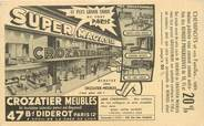"""Theme CPA PUBLICITE """"Meubles crozatier"""" / PARIS XII"""