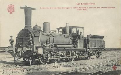 "CPA TRAIN / LOCOMOTIVE ""ancienne locomotive voyageurs 1855"""