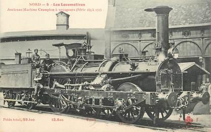 "CPA TRAIN / LOCOMOTIVE ""ancienne machine Crampton à voyageurs"""