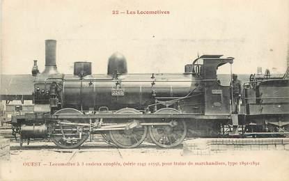 """CPA TRAIN / LOCOMOTIVE """"locomotive à 3 essieux couplés"""""""