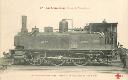 "CPA TRAIN / LOCOMOTIVE ""machine de banlieue dite Tender"""