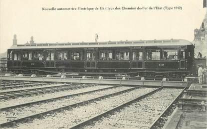 """CPA TRAIN / LOCOMOTIVE """"nouvelle automotrice électrique de banlieue"""""""