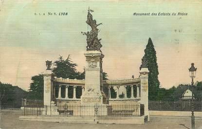 """CPA FRANCE 69 """"Lyon, monument aux morts"""" / CARTE TOILÉE"""