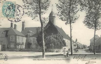 """/ CPA FRANCE 18 """"Asnières, le temple protestant"""""""