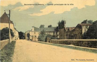 "CPA FRANCE 64 ""Sauveterre de Béarn"" / CARTE TOILÉE"