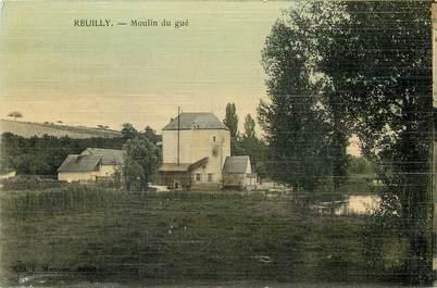 "CPA FRANCE 36 ""Reuilly, Moulin du Gué"" / CARTE TOILÉE"