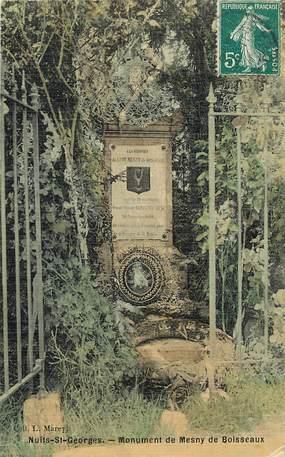 """CPA FRANCE 21 """"Nuits Saint Georges, monument"""" / CARTE TOILÉE"""