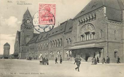 """/ CPA FRANCE 57 """"Metz, la gare"""""""