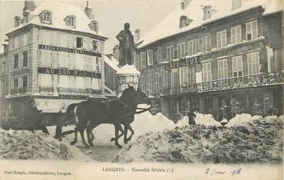 """/ CPA FRANCE 52 """"Langres, nouvelle Sibérie"""""""