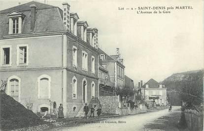 """/ CPA FRANCE 46 """"Saint Denis près Martel, l'av de la gare"""""""