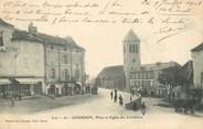 """46 Lot / CPA FRANCE 46 """"Gourdon, place et église des cordeliers"""""""