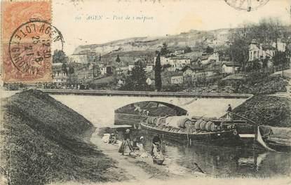 """/ CPA FRANCE 47 """"Agen, pont de Courpian"""""""