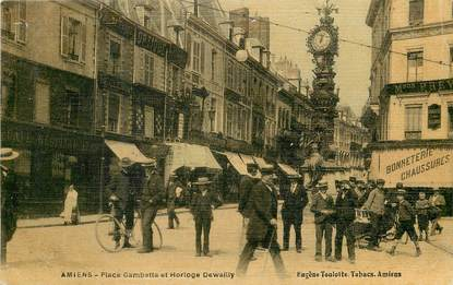 "CPA FRANCE 80 ""Amiens, Place Gambetta"" / CARTE TOILÉE"