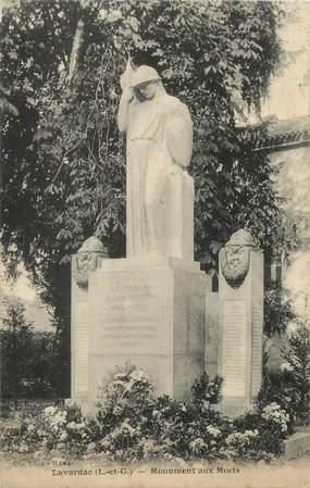 "/ CPA FRANCE 47 ""Lavardac, monument aux morts"""
