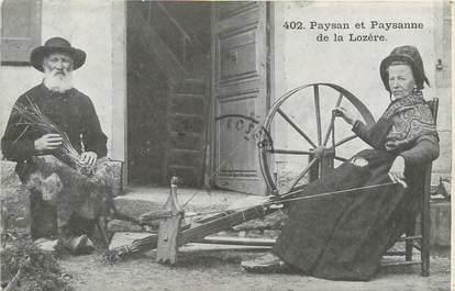 """/ CPA FRANCE 48 """"Paysan et paysanne de la Lozère"""""""