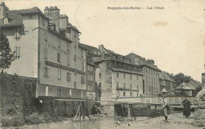 "/ CPA FRANCE 48 ""Bagnols les Bains, les hôtels"""
