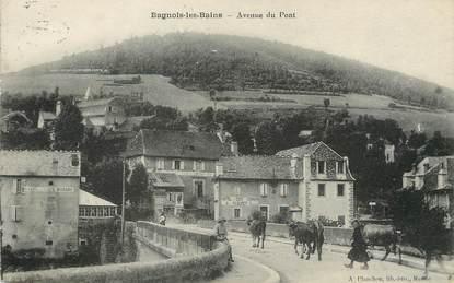 "/ CPA FRANCE 48 ""Bagnols les Bains, av du pont"""