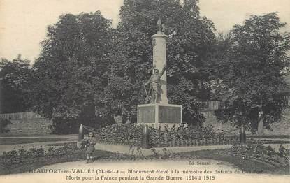"""/ CPA FRANCE 49 """"Beaufort en Vallée, monument aux morts"""""""