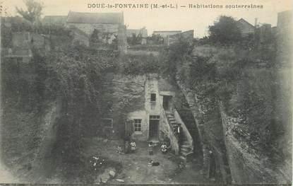 """/ CPA FRANCE 49 """"Doué La Fontaine, habitations souterraines"""""""