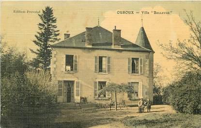 """CPA FRANCE 71 """"Ouroux, villa Bellevue"""" / CARTE TOILÉE"""